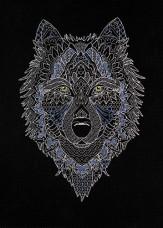 Набор для вышивки крестом Серебряный волк Абрис Арт АН-127