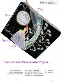 Косметичка для вишивкі бісером Місячне сяйво