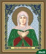 Рисунок на ткани для вышивки бисером Св. Лия (Лилия)