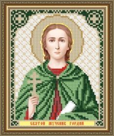 Схема вышивки бисером на авторской канве Святой Мученик Гордий