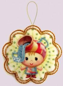 Набор для изготовления игрушки из фетра для вышивки бисером Водолей, , 48.00грн., F131, Баттерфляй (Butterfly), Сказочные персонажи