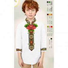Заготовка детской сорочки на белом льне Biser-Art Bis12114