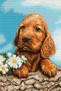 Набор для вышивки крестом Ожидающая собачка