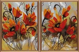 Схема для вышивки бисером на атласе Огненные цветы Новая Слобода (Нова слобода) В21008 - 163.00грн.