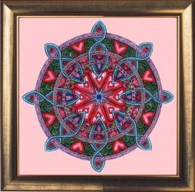 Набор для вышивки бисером Мандала любви и гармонии, , 277.00грн., 121Б, Баттерфляй (Butterfly), Наборы и схемы для вышивки бисером и нитками Восток