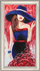 Набор для вышивки бисером Дама в шляпе (по картине О. Дарчук)