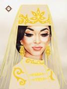 Схема для вышивки бисером на атласе Сафия прекрасная
