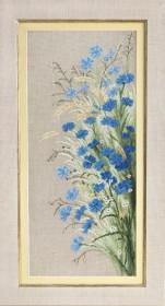 Набор для вышивки крестиком Полевые васильки, , 428.00грн., М-279, Чарiвна мить (Чаривна мить), Цветы
