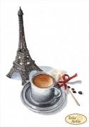 Схема вышивки бисером на атласе Мечтательный кофе