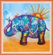 Набор для вышивки бисером Неоновый слон