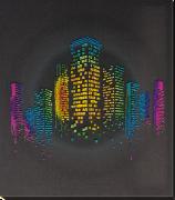 Набор для вышивки бисером на натуральном художественном холсте Ночь в городе