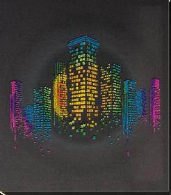 Набор для вышивки бисером на натуральном художественном холсте Ночь в городе Абрис Арт АВ-810 - 351.00грн.