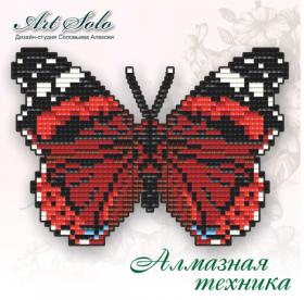 Набор-магнит для выкладки алмазной мозаикой Красный адмирал (Vanessa atalanta) Art Solo БАТ07 - 110.00грн.