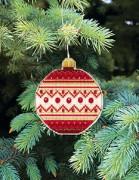 Набор для вышивки нитками Новогодняя игрушка Рождественская ночь