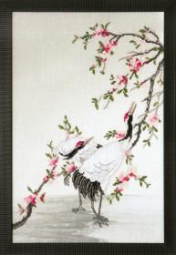 Набор для частичной вышивки крестом Журавли, собирающие росу, , 355.00грн., РК-123, Чарiвна мить (Чаривна мить), Пейзажи