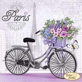 Схема вышивки бисером на атласе Парижский велосипед Tela Artis (Тэла Артис) ТМ-143 - 65.00грн.