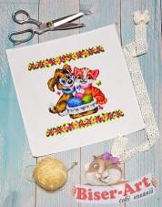 Схема дитячого пасхального рушника Biser-Art В9510