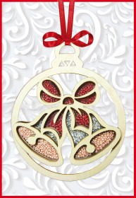 Набор новогоднее украшение из фанеры Новогодняя игрушка Колокольчик