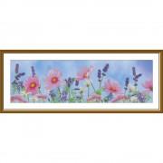 Набор для вышивки нитками на канве Полевые цветы