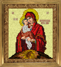 Набор для вышивки ювелирным бисером Икона Почаевская Краса и творчiсть 61113