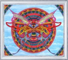 Набор для вышивки бисером Мандала - бабочка Баттерфляй (Butterfly) 118Б