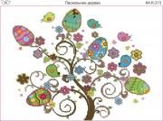 Схема для вышивки бисером на габардине Пасхальное дерево