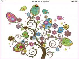 Схема для вышивки бисером на габардине Пасхальное дерево Acorns А4-К-215 - 45.00грн.