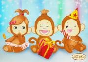 Схема для вышивки бисером на атласе Три обезьянки