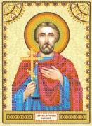 Схема для вышивки бисером на холсте Святой Евгений