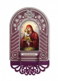Набор для вышивки иконы с рамкой-киотом Богородица Почаевская