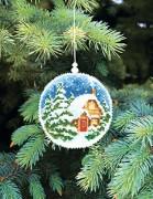 Набор для вышивки нитками Новогодняя игрушка Зимний вечер