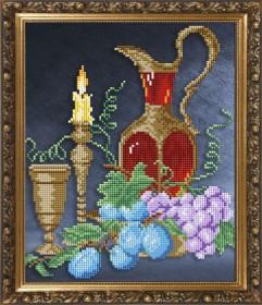 Схема вышивки бисером на авторской канве Натюрморт с графином , , 55.00грн., VKA4070, Art Solo, Алмазная мозаика