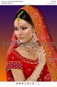 Рисунок на габардине для вышивки бисером Індійська наречена