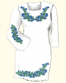 Заготовка женского платья для вышивки бисером  Biser-Art Сукня 6003 (габардин) - 385.00грн.
