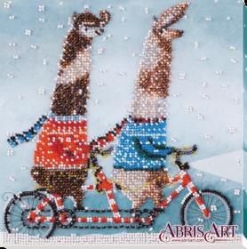 Набор-миди для вышивки бисером на натуральном художественном холсте Тандем, , 219.00грн., AMB-036, Абрис Арт, Животные