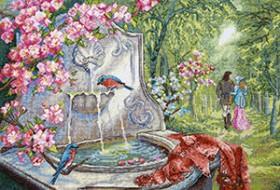 Набор для вышивки крестом Лазурные птицы Чарiвна мить (Чаривна мить) М-370 - 422.00грн.