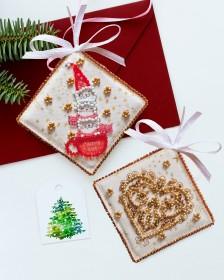 Набор для вышивки новогоднего украшения Угощаем чаем