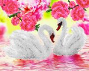 Схема для вышивки бисером на атласе Лебеди