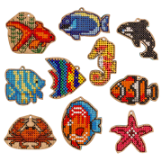 Набор заготовок для вышивки бисером по дереву Подводный мир