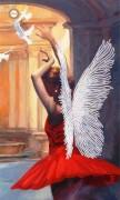 Схема для вышивки бисером на атласе Лети, мой ангел