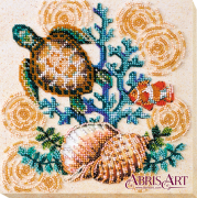 Набор-миди для вышивки бисером на натуральном художественном холсте Морские жители