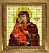 Набор для вышивки ювелирным бисером Икона Владимирская