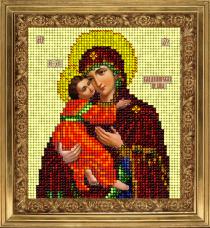 Набор для вышивки ювелирным бисером Икона Владимирская Краса и творчiсть 20913