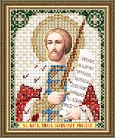Схема вышивки бисером на авторской канве Святой Благоверный Князь Александр Невский