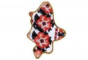 Набор - магнит для вышивки бисером Карта Украины Донецкая область