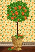 Схема для вышивки бисером на атласе Дерево счастья