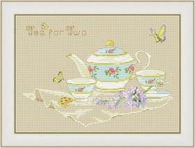 Набор для вышивки нитками Чай на двоих