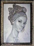 Набор для вышивки бисером на габардине Жемчужна Африки