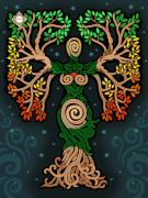 Схема для вышивки бисером на атласе Женское начало