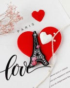 Набір для вишивання бісером прикраси Серце Франції
